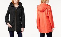 MICHAEL Michael Kors Petite Detachable Hood Rain Coat - Coats - Women - Macy's
