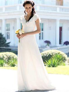 v-neck/v-halter womens dresses at ZBRANDS.COM  Amazing Sheath Halter Chiffon Sweep Train Wedding Dress WSC06807-LT