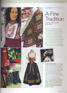 """Forrige dagen dukket det et eksemplar i postkassa. Til min og familiens store begeistring. Bilder av bunader sydd akkurat her i min """"lille stakkestova"""" er presentert i en super fin og inspirerende blad. Og det er nettopp det den heter også, INSPIRASJONS Magazine. Dette var jo veldig, veldig artig! Folk Costume, Costumes, Norwegian Clothing, Russian Fashion, Russian Style, Most Beautiful Eyes, Looking For Someone, Bridal Crown, Traditional Dresses"""