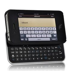 kiBoard - iPhone 4S iPhone 4 Case with Slideout Physical QWERTY Keyboard (Bluetooth)