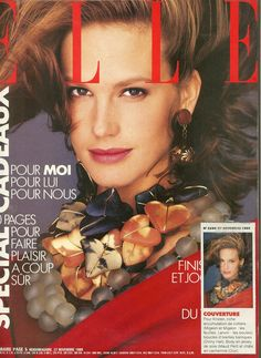 Dinny Hall Vintage Earrings on the Cover of French Elle Magazine, November 1989