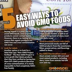 5 Easy Ways To Avoid GMO Foods. Read Here: http://www.onegreenplanet.org/vegan-health/5-easy-ways-to-avoid-gmo-foods