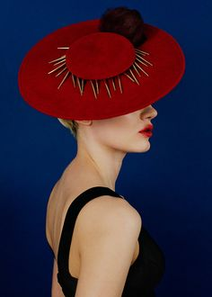 """Awon Golding Millinery A/W """"Only Lovers"""" Collection Biscayne. Fancy Hats, Cool Hats, Derby Attire, Ascot Hats, Love Hat, Boater, Online Fashion Boutique, Red Hats, Headgear"""