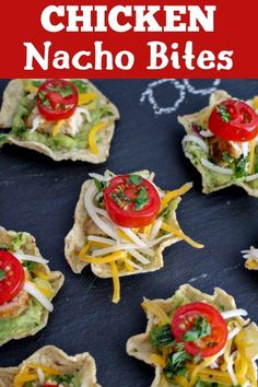 Tasty chicken nacho bites are a quick and easy finger food for parties or game day snacking. Tasty chicken nacho bites are a quick and easy finger food for parties or game day snacking. Healthy Superbowl Snacks, Game Day Snacks, Snacks Für Party, Game Day Food, Tailgating Recipes, Easy Appetizer Recipes, Appetizers For Party, Appetizer Ideas, Snacks Recipes