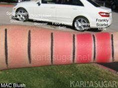 MAC Powder Blush- Springsheen/Peachykeen/FleurPower/Salsarose/FranklyScarlet