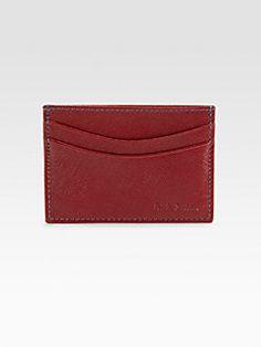 Paul Smith  Saffiano Leather Credit Card Case