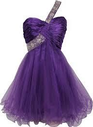 short purple dress with one shoulder