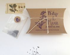 Forget Me Not Seeds. Unique Wedding Favors with by AproposRoasters