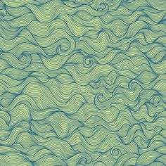 Doodle wavy seamless pattern