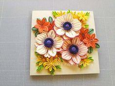 『アネモネのナチュラルブーケ:完成しま…』 Paper Quilling Patterns, Neli Quilling, Quilling Paper Craft, Quilling Flowers, Quilling Cards, Paper Flowers, Paper Crafts, Mom Drawing, Quilled Creations