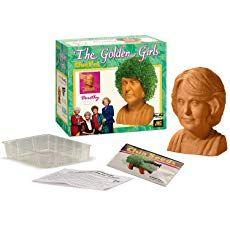Chia Golden Girls-Dorothy pottery planter, One Size, Terra Cotta