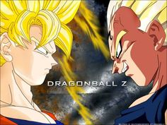 SS Goku Vs Majin Vegeta Dbz Gt And Dragon Ball Z