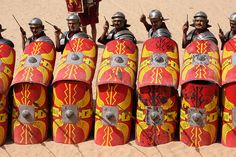 weapons of the roman army  pics. | Roman Army & Chariot Experience, Hippodrome, Jerash, Jordan | Flickr ...