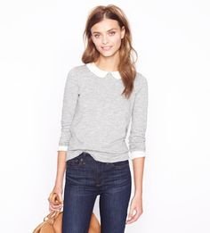 J.Crew Peter Pan Collar Tee ($75), I WANT this so bad, but it's sold out:( waaaahhhhh!!!!