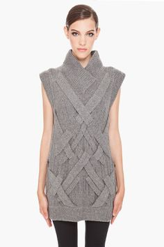 Gorgeous Geometric Cables - 3.1 Phillip Lim Sweater Tunic
