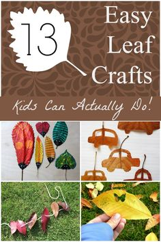 Whether you're using them in a classroom, or for your kids or grandkids at home, these leaf crafts are so easy, kids can actually do them!