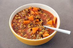 This mung bean soup with exotic spices and sweet potato makes for a delicious transition into the cooler season.