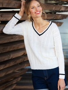 Merilokki-neulepusero Malli, Bind Off, Stockinette, Garter Stitch, Cardigans For Women, Knitwear, Knitting Patterns, Knit Crochet, One Piece