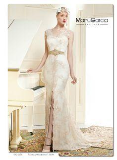 Vestidos de novia con un toque de color #Entrebastidores #ManuGarcía