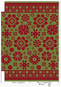 Knitted Mittens Pattern, Fair Isle Knitting Patterns, Fair Isle Pattern, Knitting Charts, Knitting Stitches, Sock Knitting, Free Knitting, Knitting Machine, Fair Isle Chart