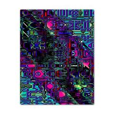 Twin Duvet  Quotients Notions - Abstract geometric generated digital image    $167.99