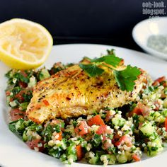 Ooh, Look...: Spiced chicken with tabouli and straying into Fashion