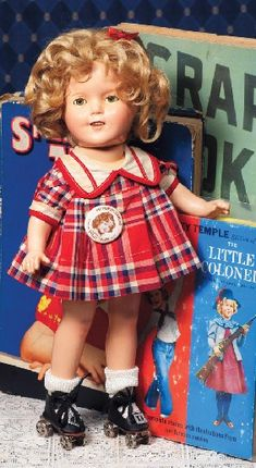Shirley Temple doll wearing Bright Eyes costume. Shirley Temple Black died February 11, 2014 age 85.
