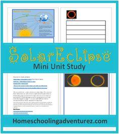 FREE Mini Unit Study- Rare hybrid solar eclipse