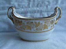 Barr Worcester Porcelain Boat Shaped Sucrier Acorn Pattern C1800