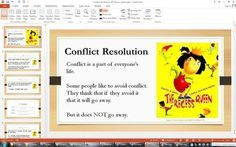 "Conflict Resolution ""I Message"" guidance Lesson PowerPoint - Recess Queen from CounselorBev on TeachersNotebook.com -  (19 pages)  - PowerPoint presentation for a conflict resolution lesson using the book / video (link supplied)  ""The Recess Queen""model for using the ""I Message"" to resolve the conflict and practice scenarios."