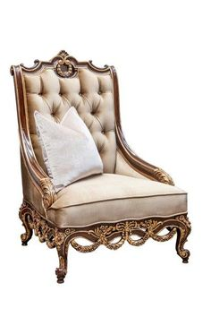 Lounge Chairs, Gold Leaf, Accent Chairs, Sofa, Interior, Furniture, Home Decor, Chaise Lounge Chairs, Upholstered Chairs