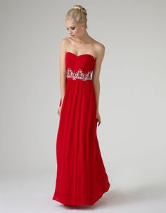 Miley Prom Dress | Red | Monsoon