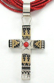 Sterling Silver Cross; Richard Singer (Diné)