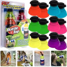 Bottle Top Beverage Can Resealer great idea for kids one day Gadget World, Drink Containers, Whiskey Decanter, Bottle Top, Latest Gadgets, See On Tv, Drink Bottles, Water Bottles, Cold Drinks