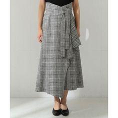 【VERY4月号掲載】ELIN / チェックラップスカート