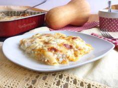 Lasagne con crema di zucca ricotta e caprino