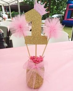 Exceptional Princess Birthday Decorations - Best Resources and Party Service Guide Princess Centerpieces, Princess Birthday Party Decorations, Princess Theme Birthday, Ballerina Birthday Parties, Baby Girl 1st Birthday, Unicorn Birthday, First Birthday Parties, Birthday Party Themes, Birthday Ideas