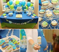 Little Man baby shower-love the colors too