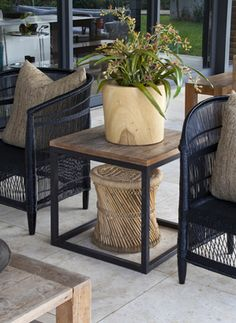 Humble stools have not only become the on-trend accessory to have in your home, they're also multitasking as useful side tables and extra seating in living rooms, patios, bedrooms and bathrooms Wood Planters, Beautiful Space, Stools, Safari, Mango, Spaces, Boutique, Decorating, Interior
