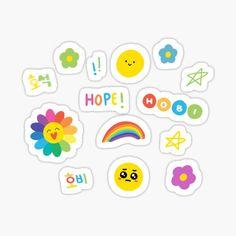 Pop Stickers, Anime Stickers, Kawaii Stickers, Printable Stickers, Journal Stickers, Planner Stickers, Arte Shop, Korean Stickers, Bts Drawings