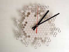Honeycomb Wall Clock original wall clock by AsymmetreeDesign
