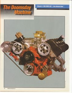 "1964 Mopar 426 DOHC Hemi ""Dooms Day Machine"" Page 1"