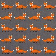 Standing Fox 2 - Tissus de décoration de marque- tissus.net