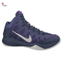 new product 1ebc2 30392 Nike Zoom Without A Doubt, Chaussures de Sport-Basketball Homme, Bleu    Argenté