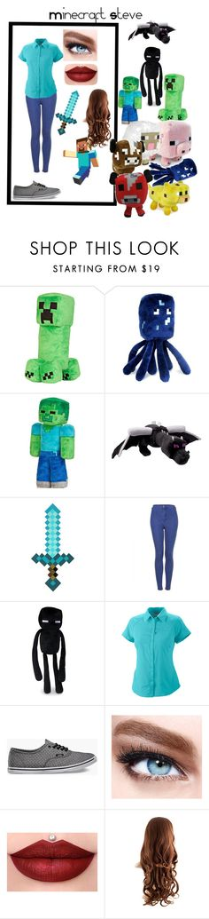 """""""look minecraft steve"""" by celiane-basille on Polyvore featuring mode, Topshop, Columbia, Vans et Maybelline"""