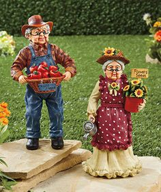Grandparents Garden Statues is going up for auction at  5pm Fri, May 10 with a starting bid of $1.