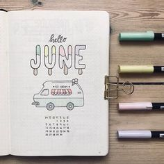 Friday Finds: Summer Bullet Journal Theme - The Petite PlannerYou can find Ice cream near me and more on our website.Friday Finds: Summer Bullet Journal Theme - The Petite Planner Bullet Journal Inspo, Planner Bullet Journal, Bullet Journal Aesthetic, Bullet Journal Notebook, Bullet Journal Spread, Bullet Journal Layout, Bullet Journal Cover Ideas, Bullet Journal Birthday Page, April Bullet Journal