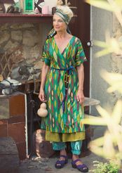 "LOVE these colors together! ""Masai"" dress in lyocell & eco-cotton"