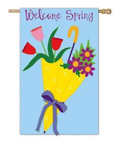 Another great find on #zulily! Spring Bouquet Garden Flag #zulilyfinds