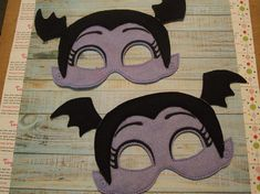 Girl Vampire Vampirina Vamparina inspired felt mask for dress up or Halloween Costume Pretend Play Imagination Education party favor by Tiny Crafts Up Halloween, Halloween Crafts, Halloween Costumes, 6th Birthday Parties, 4th Birthday, Party Props, Party Themes, Party Ideas, Scary Kids